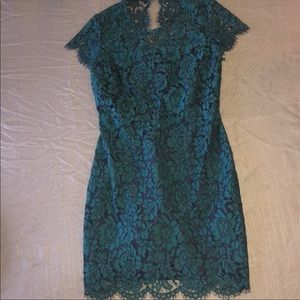 BEAUTIFUL pine green lace dress only work 1 time